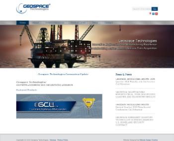Geospace Technologies Corporation Website Screenshot