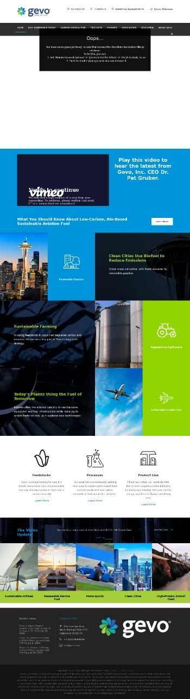 Gevo, Inc. Website Screenshot