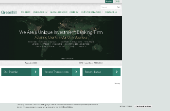 Greenhill & Co., Inc. Website Screenshot