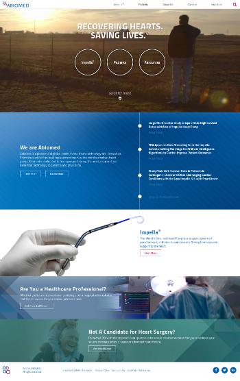 Abiomed, Inc. Website Screenshot