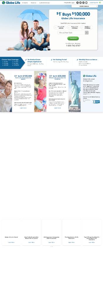 Globe Life Inc. Website Screenshot