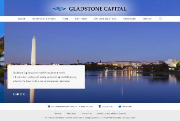 Gladstone Capital Corporation Website Screenshot