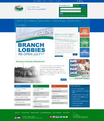 Glen Burnie Bancorp Website Screenshot