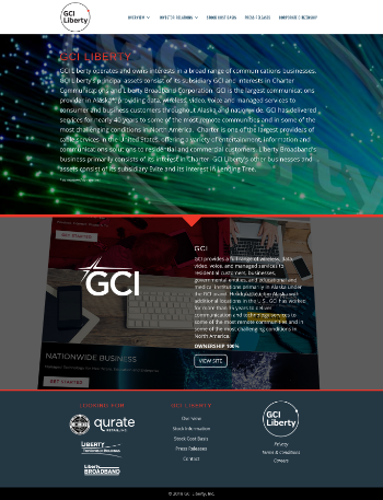 GCI Liberty, Inc. Website Screenshot