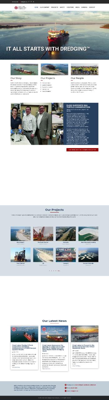 Great Lakes Dredge & Dock Corporation Website Screenshot