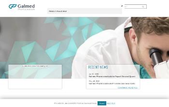 Galmed Pharmaceuticals Ltd. Website Screenshot
