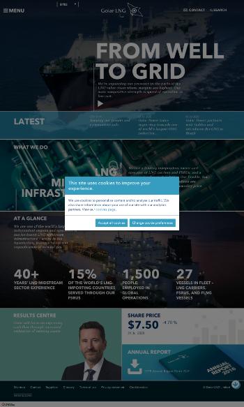 Golar LNG Limited Website Screenshot