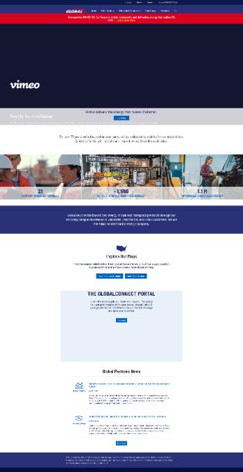 Global Partners LP Website Screenshot