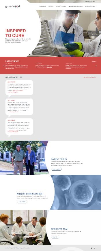 Gamida Cell Ltd. Website Screenshot