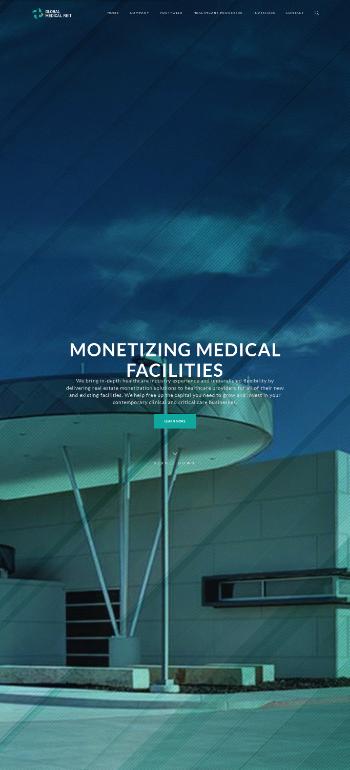 Global Medical REIT Inc. Website Screenshot