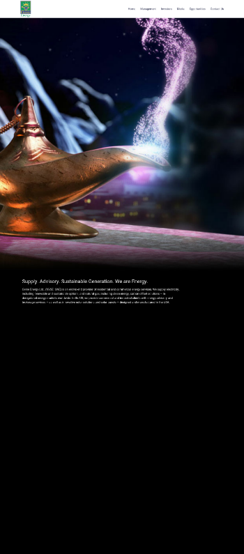 Genie Energy Ltd. Website Screenshot