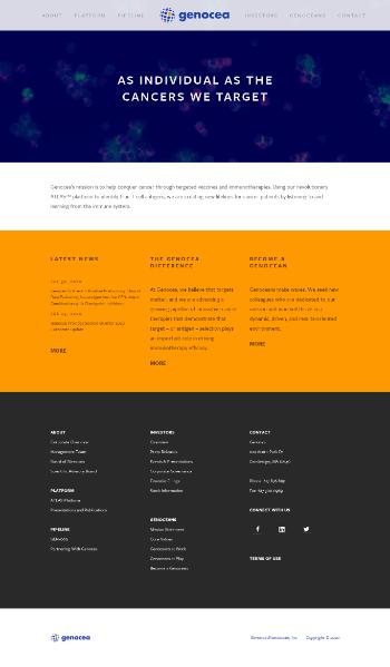 Genocea Biosciences, Inc. Website Screenshot