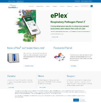 GenMark Diagnostics, Inc. Website Screenshot