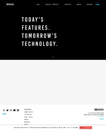 Gentex Corporation Website Screenshot