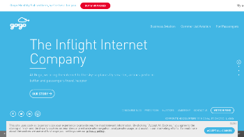 Gogo Inc. Website Screenshot