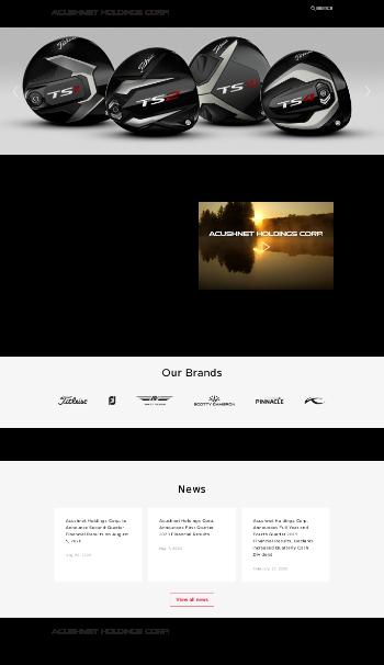 Acushnet Holdings Corp. Website Screenshot