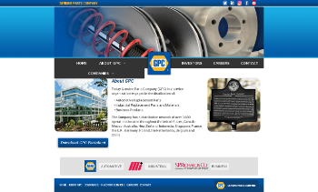 Genuine Parts Company Website Screenshot