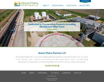 Green Plains Partners LP Website Screenshot