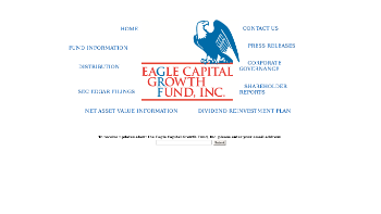 Eagle Capital Growth Fund, Inc. Website Screenshot