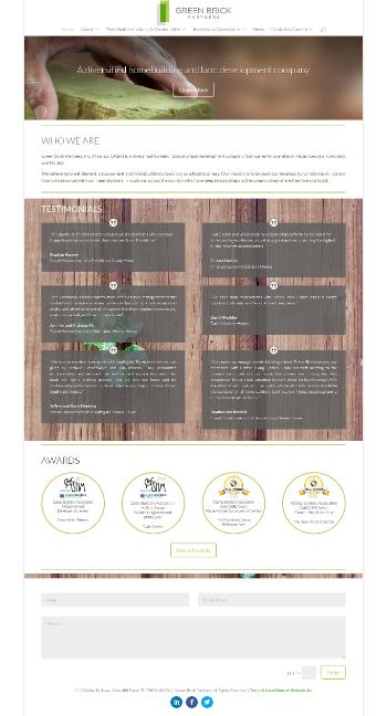 Green Brick Partners, Inc. Website Screenshot