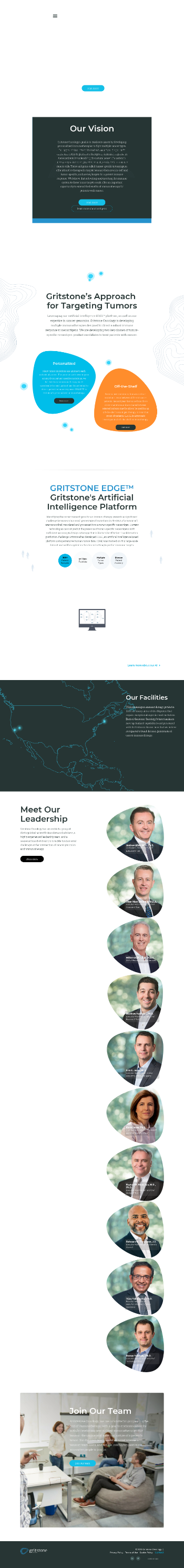 Gritstone Oncology, Inc. Website Screenshot