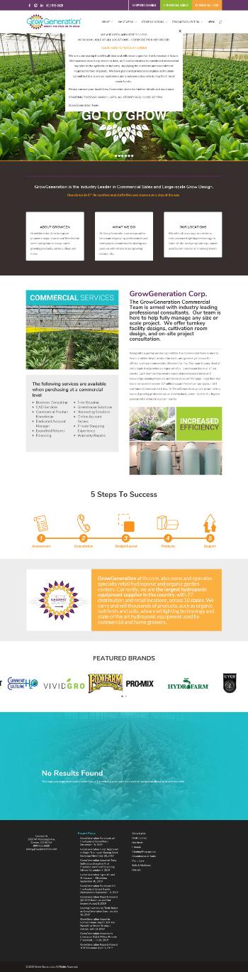 GrowGeneration Corp. Website Screenshot