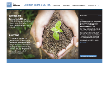 Goldman Sachs BDC, Inc. Website Screenshot