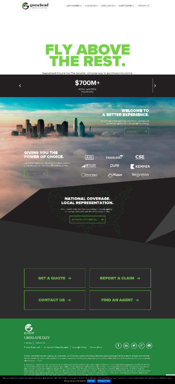 Goosehead Insurance, Inc Website Screenshot