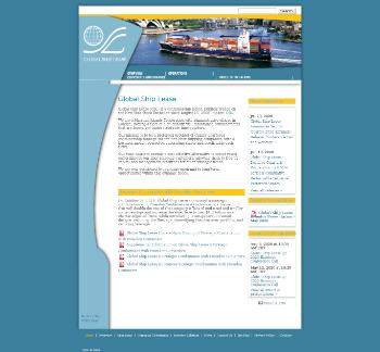 Global Ship Lease, Inc. Website Screenshot
