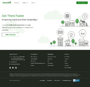GreenSky, Inc. Website Screenshot