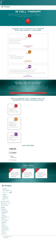 Allogene Therapeutics, Inc. Website Screenshot