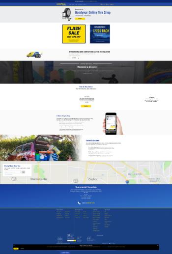 The Goodyear Tire & Rubber Company Website Screenshot