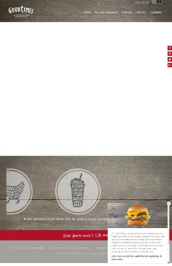 Good Times Restaurants Inc. Website Screenshot