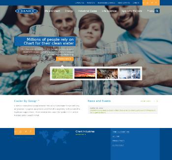 Chart Industries, Inc. Website Screenshot