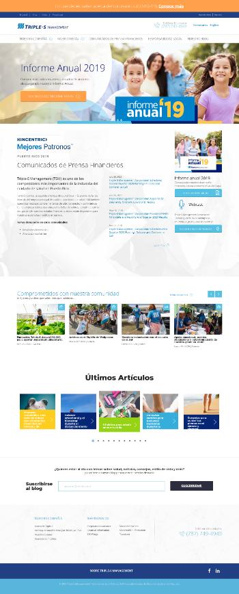 Triple-S Management Corporation Website Screenshot