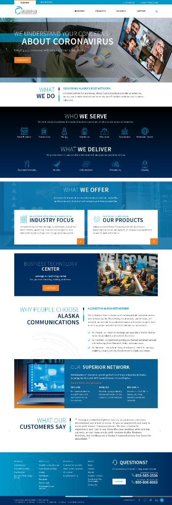 Alaska Communications Systems Group, Inc. Website Screenshot