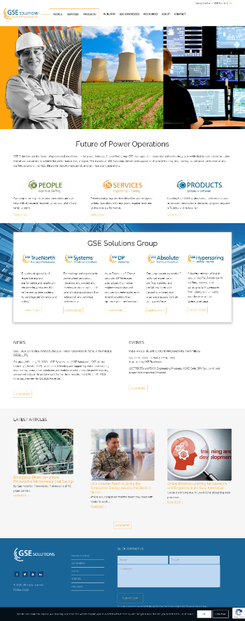 GSE Systems, Inc. Website Screenshot