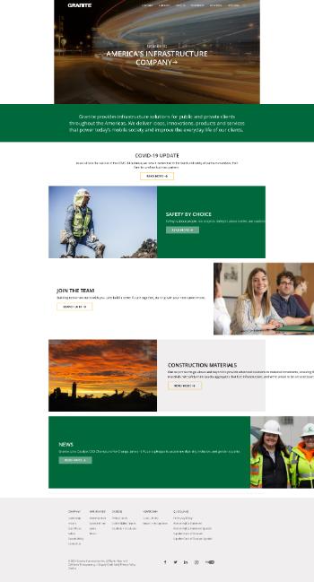 Granite Construction Incorporated Website Screenshot