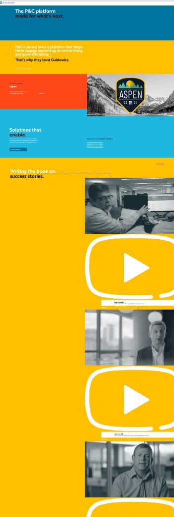 Guidewire Software, Inc. Website Screenshot