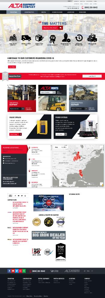 Alta Equipment Group Inc. Website Screenshot
