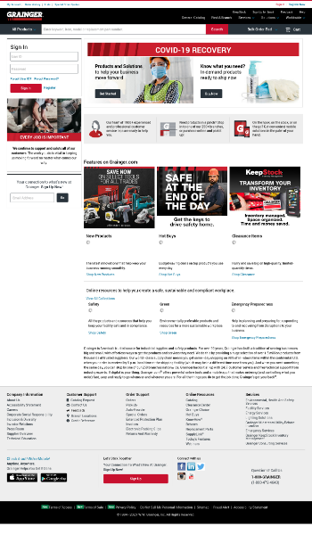 W.W. Grainger, Inc. Website Screenshot