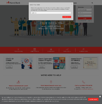Hanmi Financial Corporation Website Screenshot