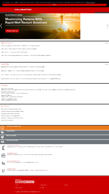 Halliburton Company Website Screenshot