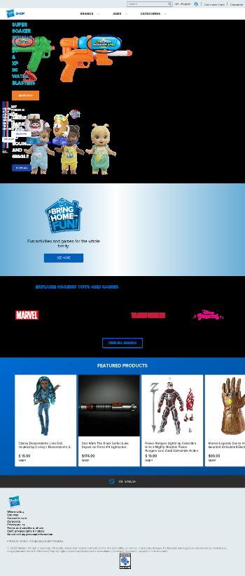 Hasbro, Inc. Website Screenshot