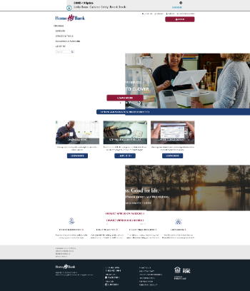 Home Bancorp, Inc. Website Screenshot