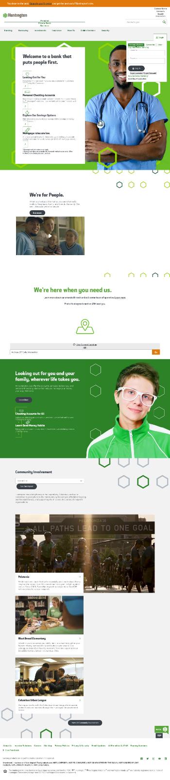 Huntington Bancshares Incorporated Website Screenshot