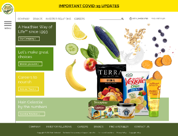 The Hain Celestial Group, Inc. Website Screenshot