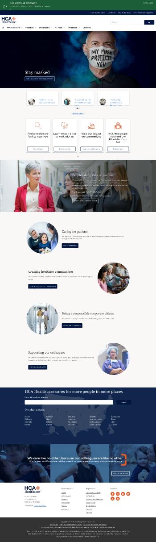 HCA Healthcare, Inc. Website Screenshot