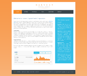 Harvest Capital Credit Corporation Website Screenshot
