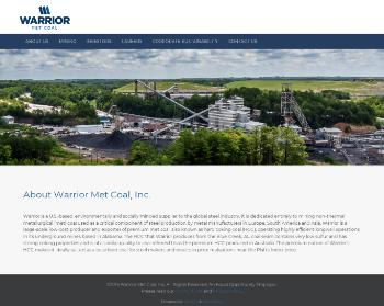 Warrior Met Coal, Inc. Website Screenshot